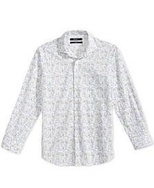 Geometric-Print Woven Shirt, Big Boys