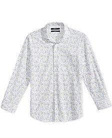 DKNY Geometric-Print Woven Shirt, Big Boys