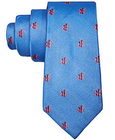 Lauren Ralph Lauren Fish-Print Silk Necktie, Big Boys