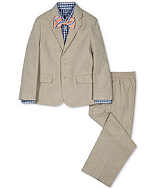 Nautica 4-Pc. Herringbone Suit Jacket, Pants, Shirt & Bowtie Set, Toddler Boys