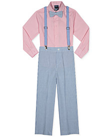 Nautica 4-Pc. Shirt, Pants, Bow Tie & Suspenders Set, Little Boys