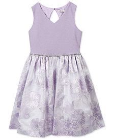 Speechless Floral Embossed Dress, Big Girls Plus