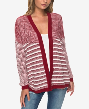 Roxy  JUNIORS' RELAX BY CHOICE MIXED-KNIT CARDIGAN