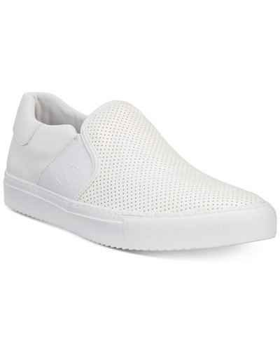 Armani Exchange Men's Perforated Slip-On Sneakers