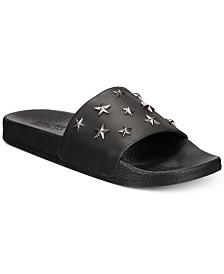 Kenneth Cole Reaction Men's Screen Star-Studded Slide Sandals