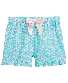 Max & Olivia Graphic-Print Pajama Shorts, Little & Big Girls