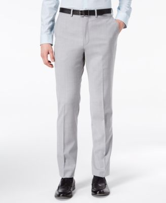 CLOSEOUT! Men's Modern-Fit Stretch Gray Sharkskin Suit Pants