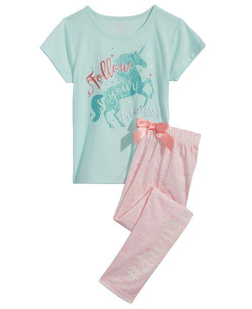 Max   Olivia Unicorn Graphic-Print Pajama Top   Pants Separates ... 886ac7b41