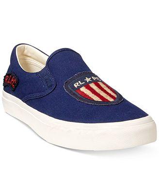 Ralph Lauren Men's Thompson Slip-On Sneakers Men's Shoes