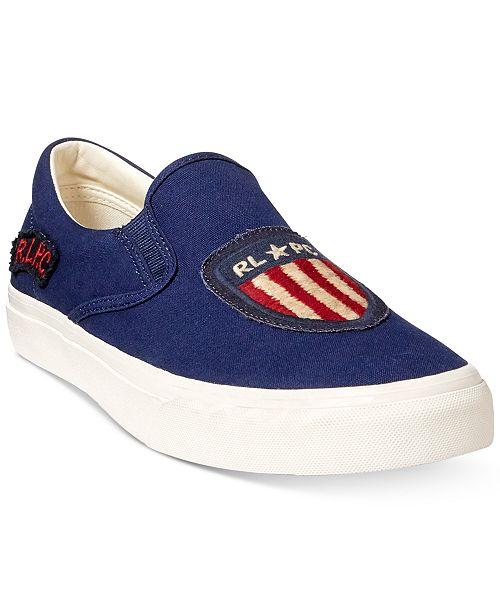 457c52c2 Polo Ralph Lauren Men's Thompson Slip-On Sneakers & Reviews - All ...