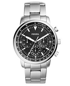 Fossil Men's Chronograph Goodwin Stainless Steel Bracelet Watch 44mm