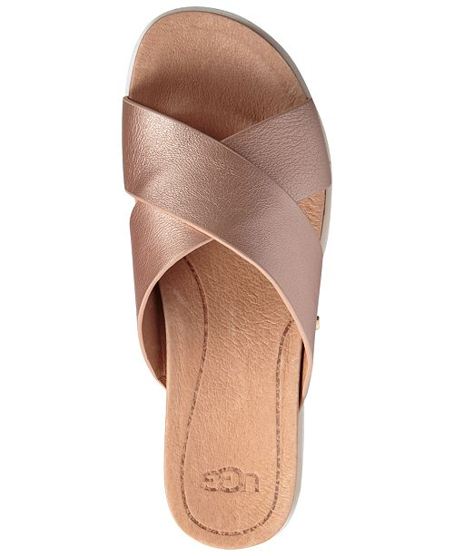 9063e196ff2c UGG® Women s Kari Slide Flat Sandals   Reviews - Sandals   Flip ...