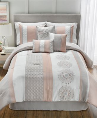 Add A Fresh And Multi Textured Decor To Your Room With The Crawford Comforter  Set, Featuring Stripes, Symmetrical Patterns And Quilted Fabrics, ...