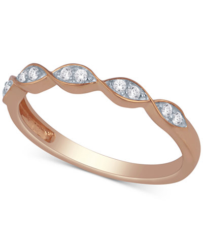 Diamond Scalloped Stackable Band (1/10 ct. t.w.)