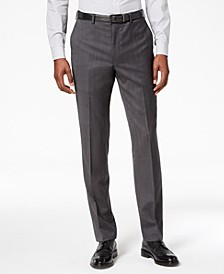 Men's Modern-Fit Stretch Textured Suit Pants