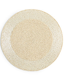 Leila's Linens Ivory Bead Mix Placemat