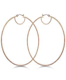 GUESS Textured Hoop Earrings
