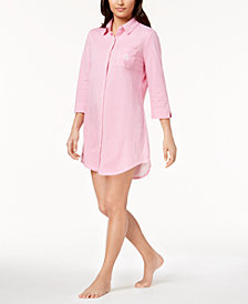 Lauren Ralph Lauren Catalina Icon Striped Cotton Sleepshirt