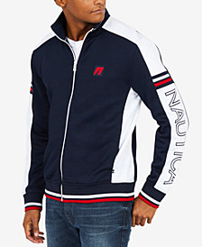 Nautica Men's Retro Colorblocked Embroidered-Logo Track Jacket