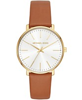 e2fff0ff0907 Michael Kors Women s Pyper Luggage Leather Strap Watch 38mm