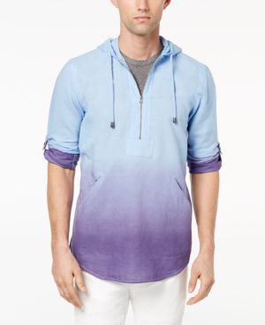 Inc International Concepts Men's Dip-Dyed Woven Hooded Shirt, Created for Macy's thumbnail
