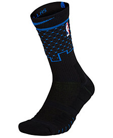 Nike Men's Dallas Mavericks Elite Quick Crew Socks
