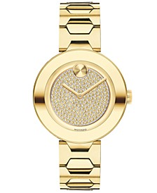 Women's Swiss BOLD Museum Classic Yellow Gold-Tone Stainless Steel Bracelet Watch 32mm