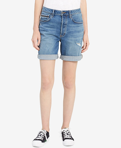 Calvin Klein Jeans Distressed Denim City Shorts