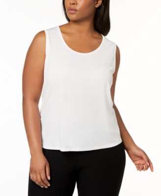 Plus Size SYSTEM Silk Jersey Tank Top