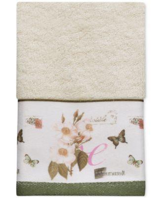 Botanical Diary Cotton Border-Print Fingertip Towel