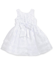 Sweet Heart Rose Floral Christening Dress