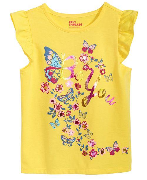 Epic Threads Ruffle T-Shirt, Little Girls, Created for Macy's