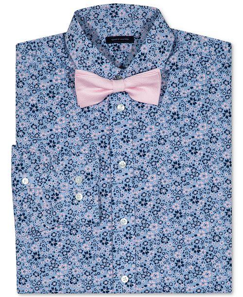 7fe852e67 ... Big Boys; Tommy Hilfiger Floral-Print Long Sleeve Shirt & Bowtie, ...