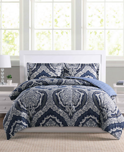 Dorchester 3-Pc. Reversible Full/Queen Comforter Set, Created for ...