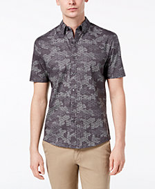 Michael Kors Men's Stretch Camouflage-Print Shirt