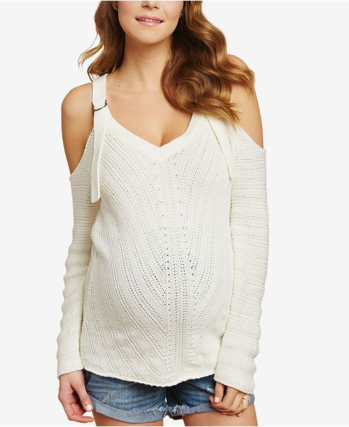 8543b7d163163 Jessica Simpson Maternity Cold-Shoulder Sweater   Reviews ...