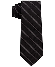 DKNY Men's Level Stripe Silk Slim Tie