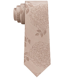DKNY Men's Rose Tattoo Silk Slim Tie