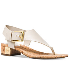 MICHAEL Michael Kors London T-Strap City Sandals