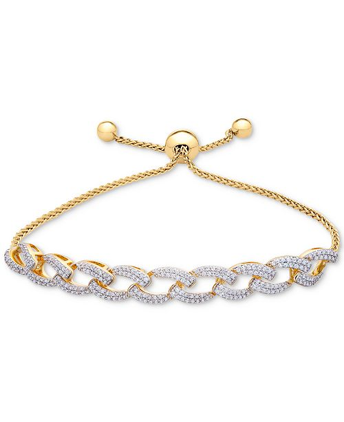 4f9a4a7a2c9 t.w.) in; Macy's Wrapped in Love™ Diamond Link Bolo Bracelet (1 ct.