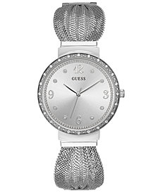GUESS Women's Stainless Steel Mesh Bracelet Watch 36mm