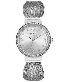 GUESS Women's Stainless Steel Mesh Bracelet Watch 36mm