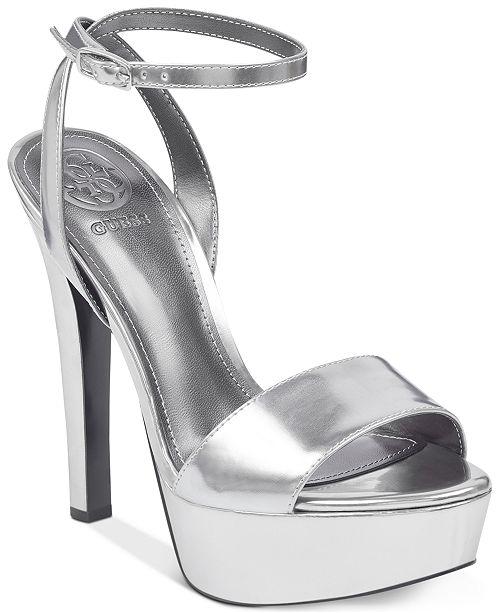 35575c4808f GUESS Women s Empress Dress Sandals   Reviews - Sandals   Flip ...