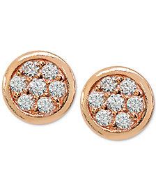 Giani Bernini Cubic Zirconia Pavé Stud Earrings in Sterling Silver, Created for Macy's