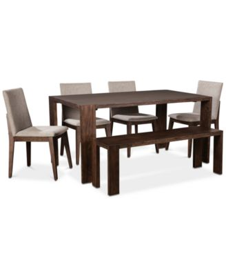 Crosby Dining Furniture, 6 Pc. Set (Table, 4 Upholstered Side Chairs