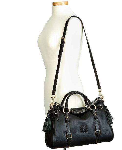 Dooney Bourke Florentine Vaccheta Pebble Leather Satchel Handbags Accessories Macy S