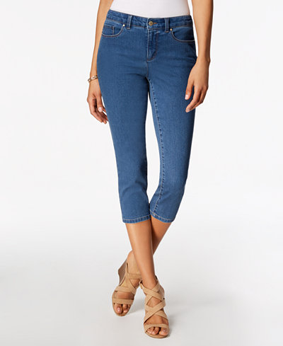 Charter Club Petite Cropped Skinny Jeans, Created for Macy's