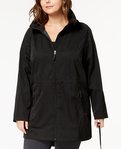 32 Degrees Plus Size Packable Waterproof Anorak Jacket