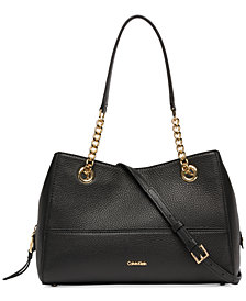 Calvin Klein Marie Leather Satchel
