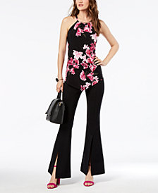 I.N.C. Halter Top & Split-Front Pants, Created for Macy's